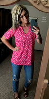 Lena Fuschia Leopard Top  - Also in Plus Size