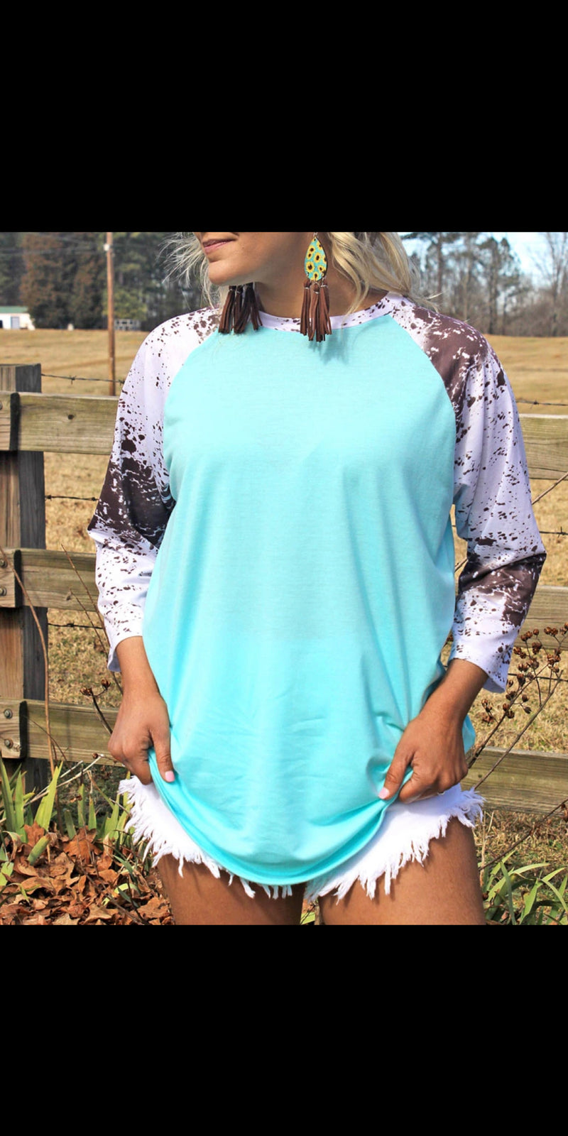 Waco Cowhide Top - Also in Plus Size