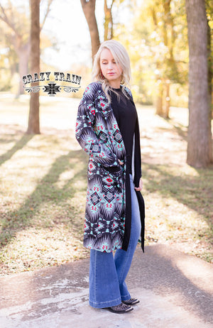Blazing Trail Aztec Cardigan - Also in Plus Size