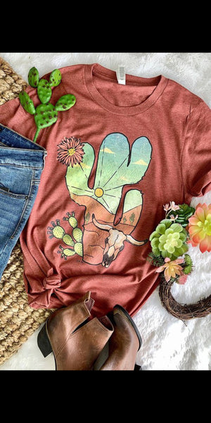 Valley Ranch Cactus Top - Also in Plus Size