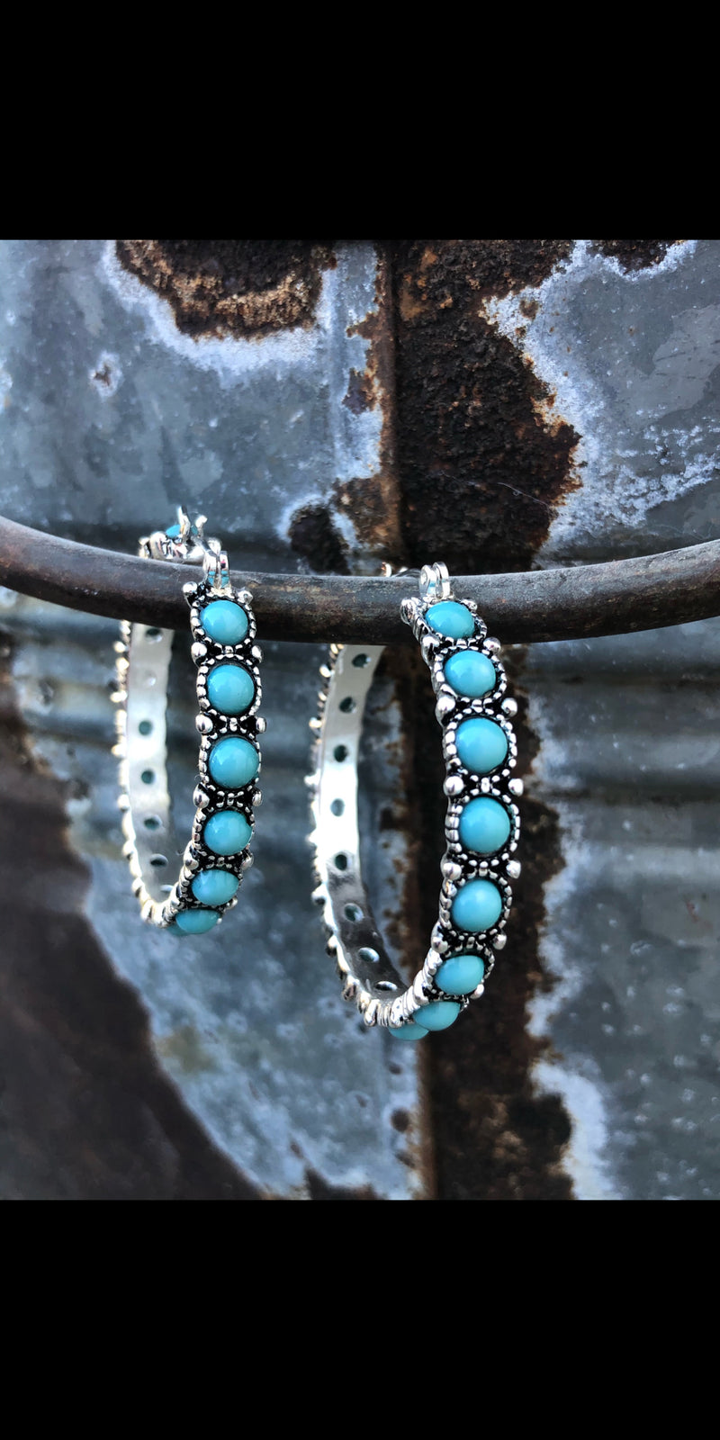 The Macy Turquoise Hoop Earrings