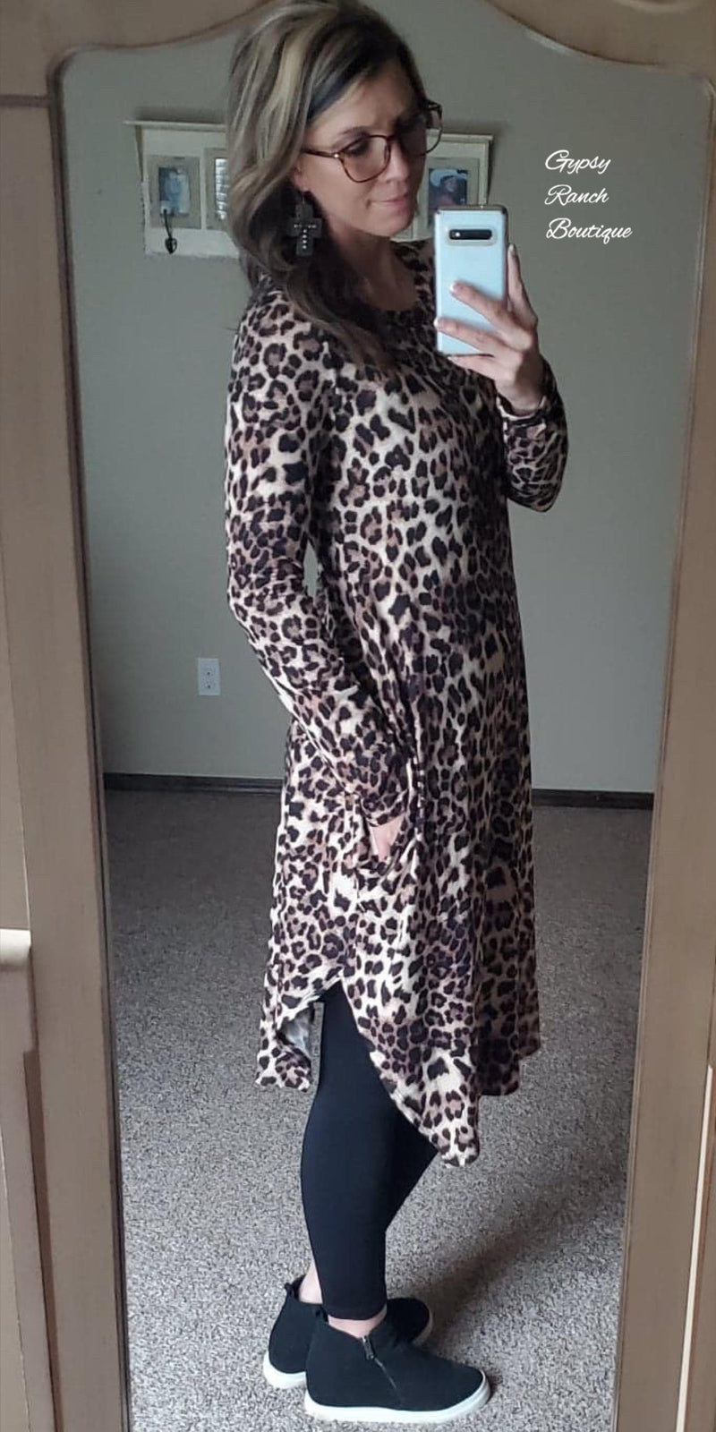 Toya Leopard MIDI Dress - Also in Plus Size