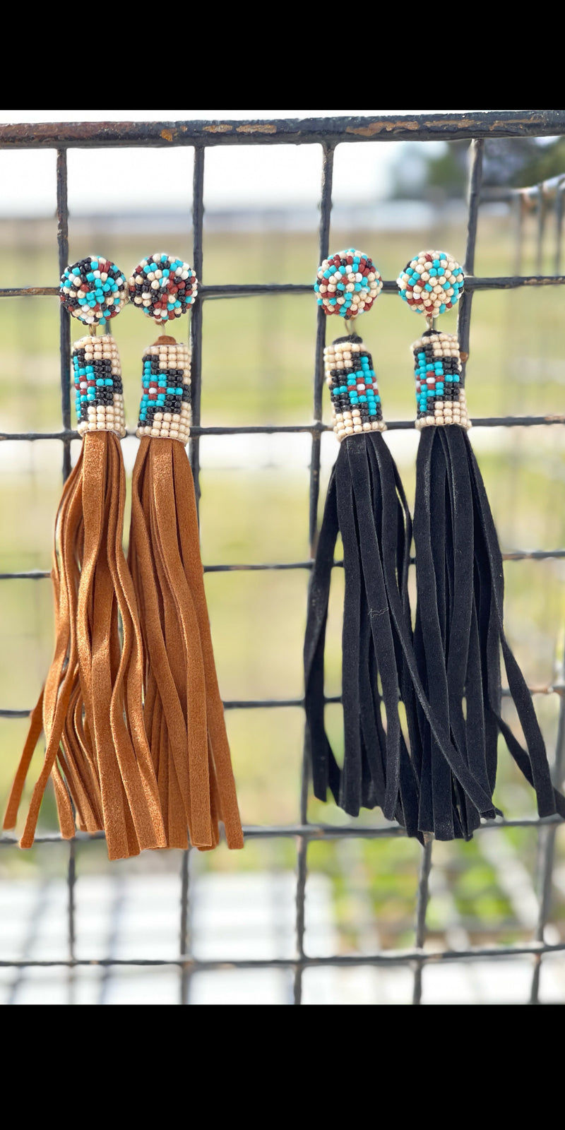 Jinx Beaded Tassel Earrings