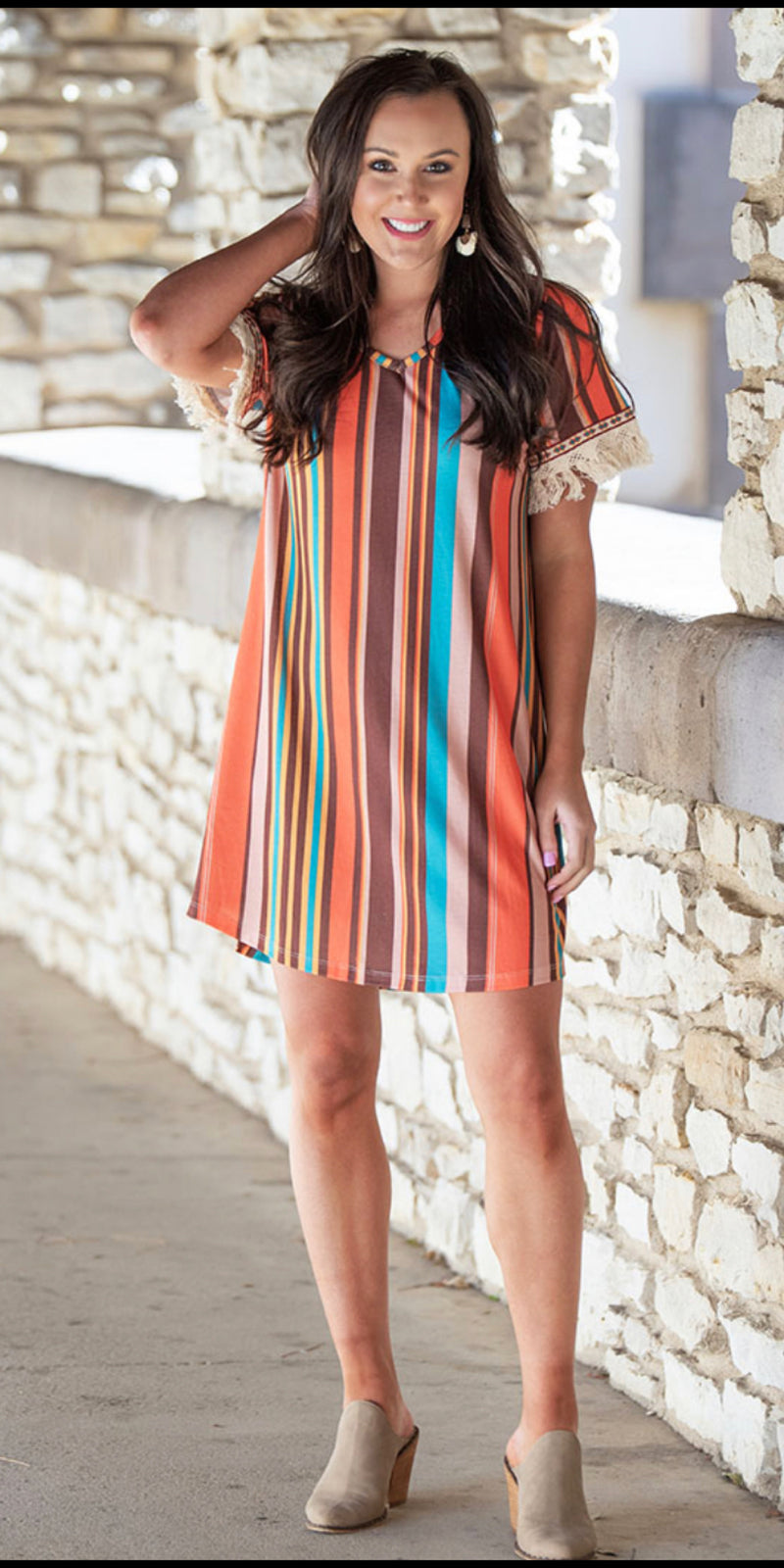 Bali Boho Serape Tunic Dress -Also in Plus Size