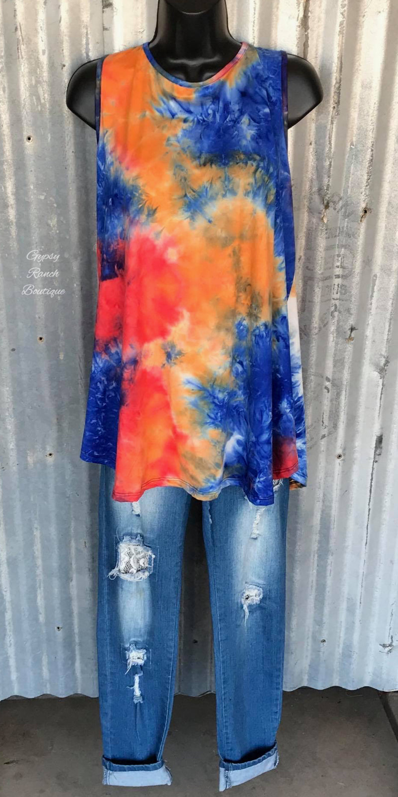 Navasota Tye Dye Tank Top - Also in Plus Size