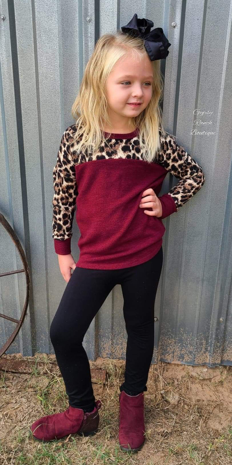 One Way Ticket Leopard Top in Kids