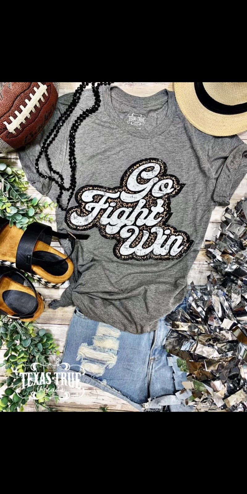 Go Fight Win Leopard Top - Also in Plus Size