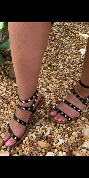 Archer City Black Studded Sandals