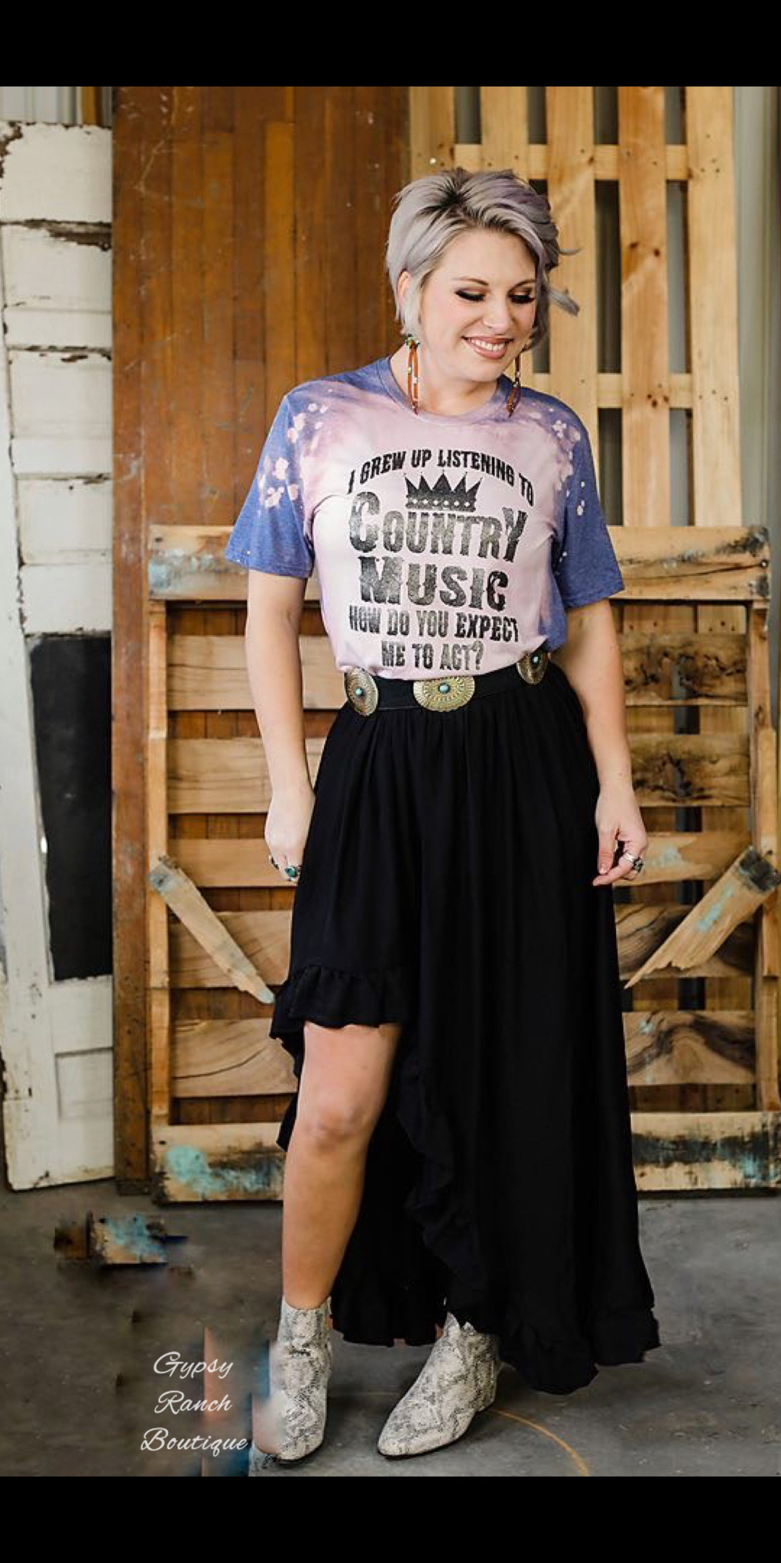 The Highway Black Skirt - Also in Plus Size