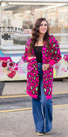 Copy Cat Leopard Cardigan - Also in Plus Size