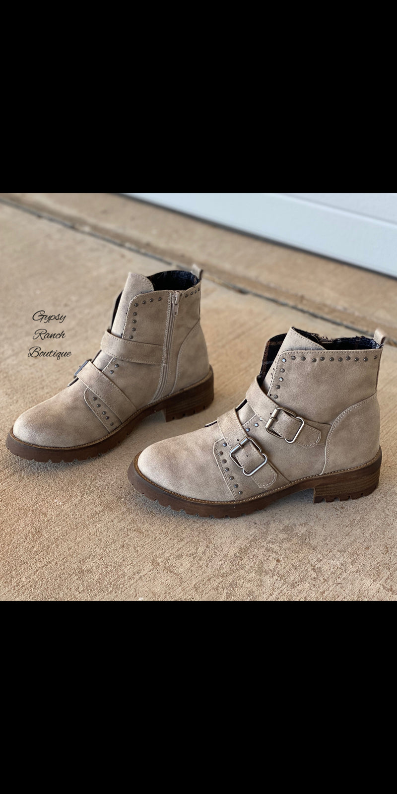 Maverick Taupe Bootie Shoes