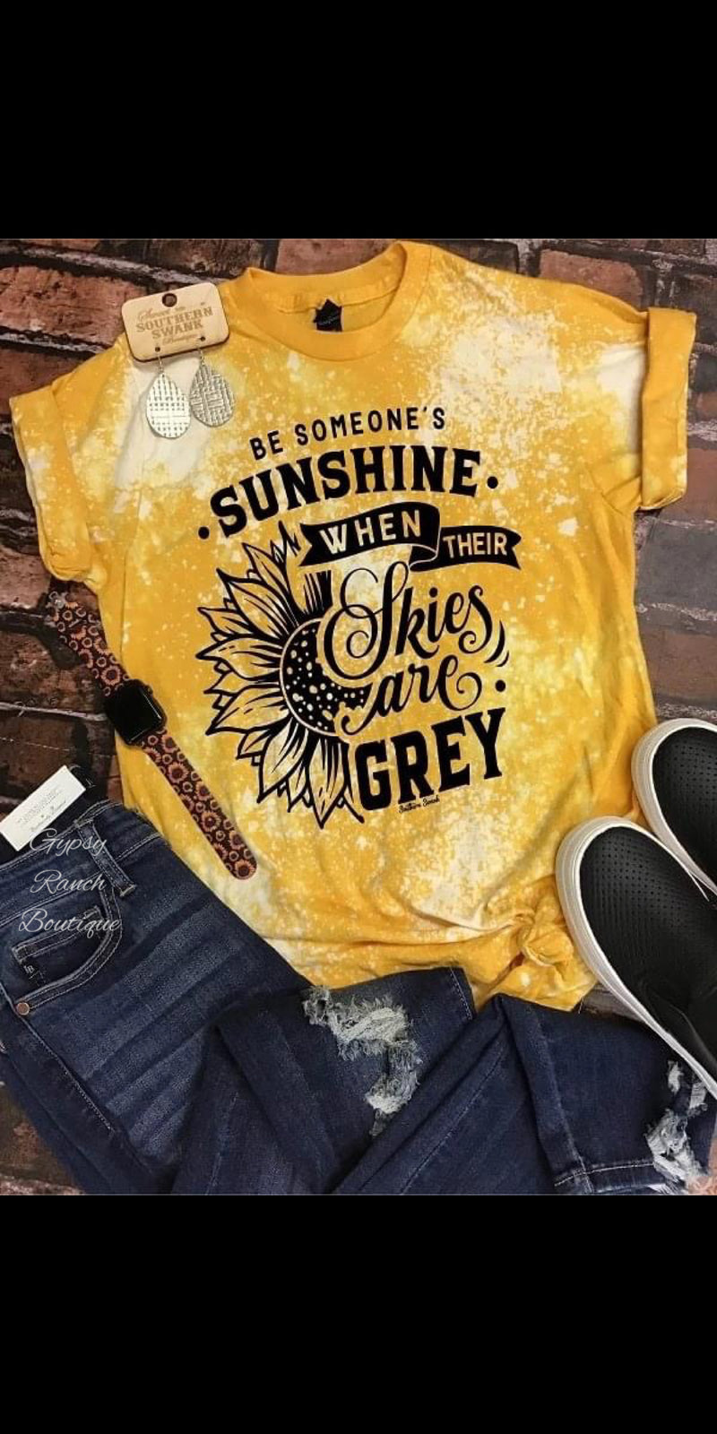 Be Someone's Sunshine Top - Also in Plus Size