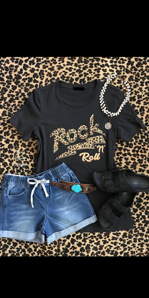 Leopard Rock 'N' Roll Top