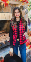 Bailey Buffalo Plaid Vest - Also in Plus Size