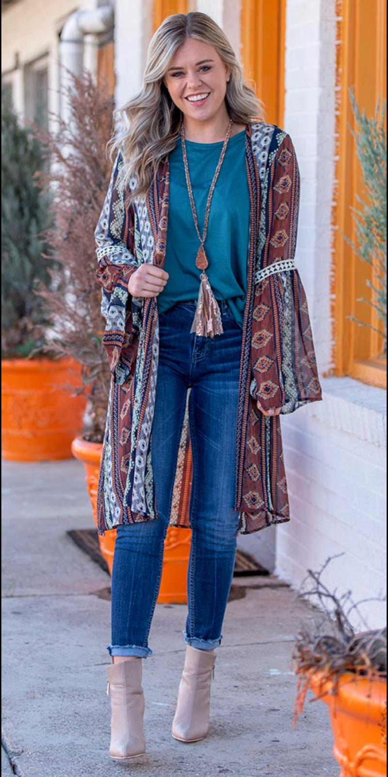 The Headliner Aztec Kimono - Also in Plus Size