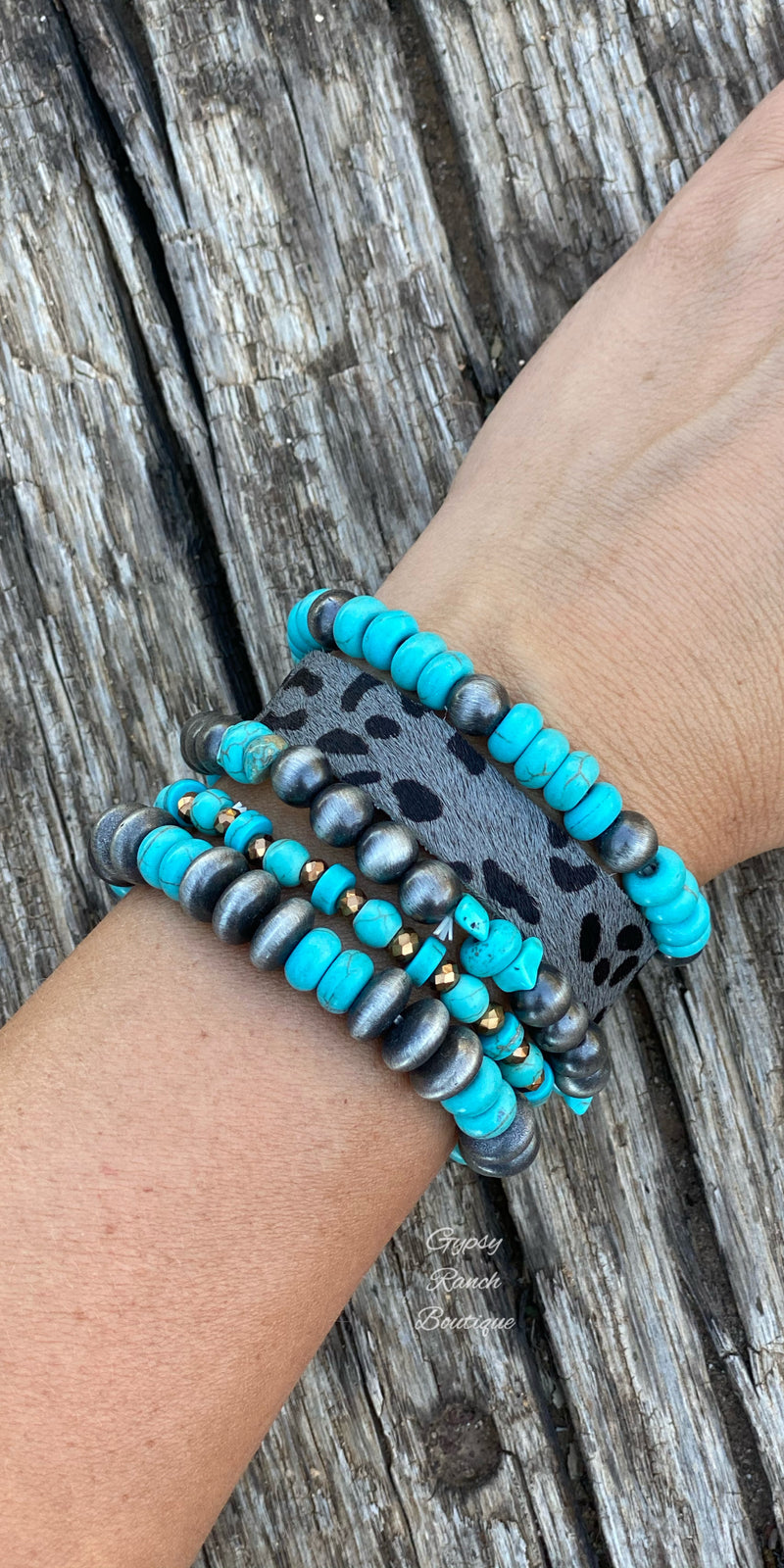 The Panhandle Turquoise Leopard Collection Bracelet