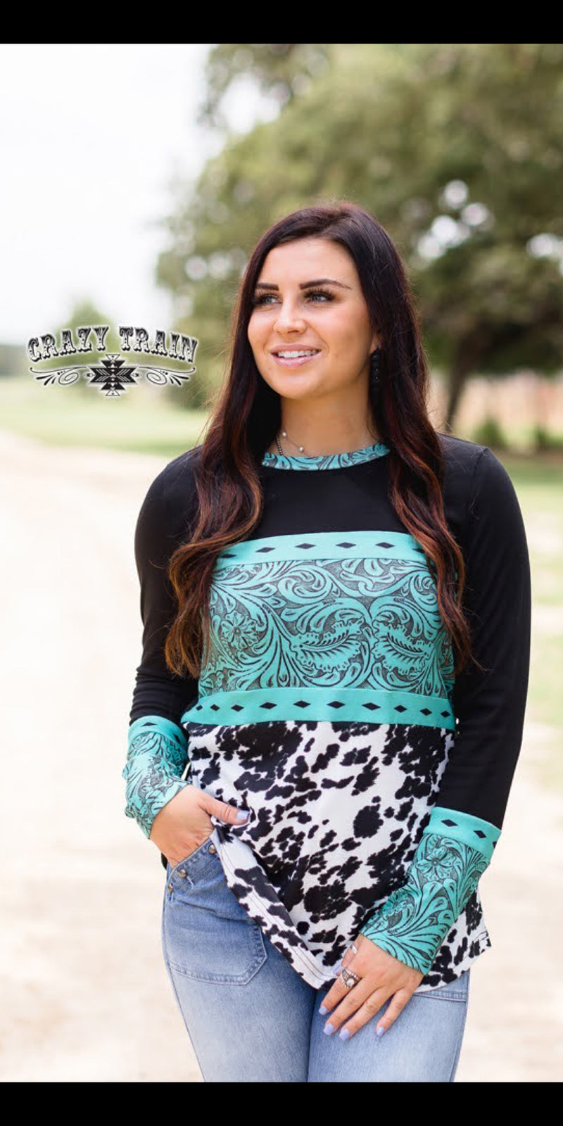 San Antone Tooled Top - Also in Plus Size