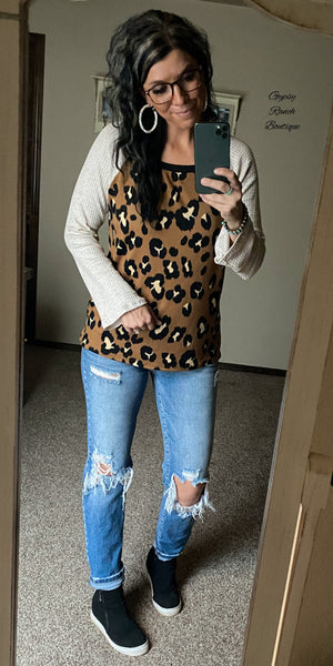 Thousand Oaks Leopard Top - Also in Plus Size