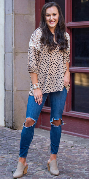 Easy Elegance Leopard Top - Also in Plus Size