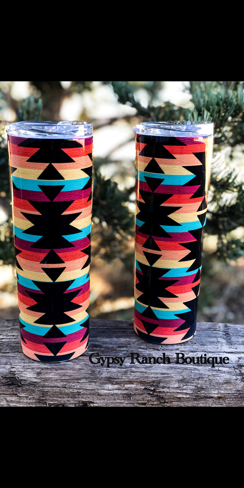 Aztec 20 oz BLACK Slim Cup