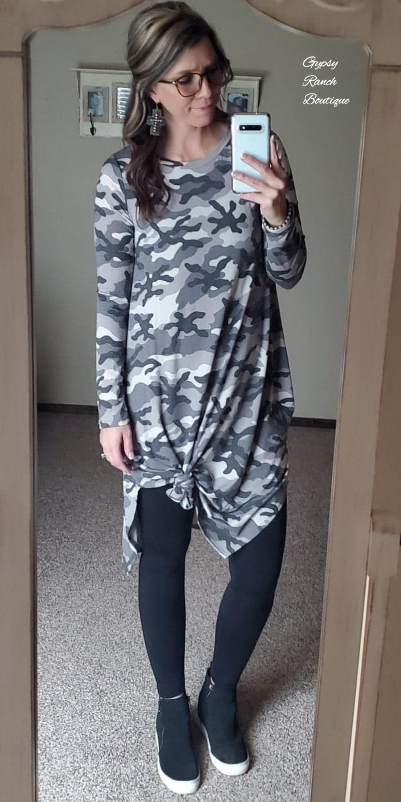 Hughes Camo MIDI Dress - Also in Plus Size