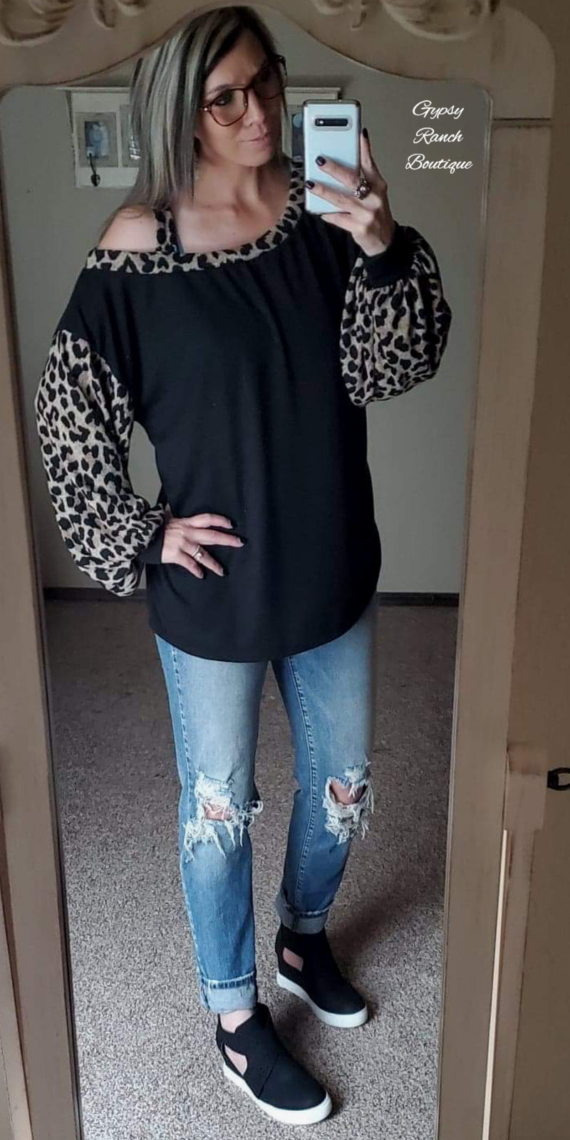 Villa Ridge Leopard Top - Also in Plus Size