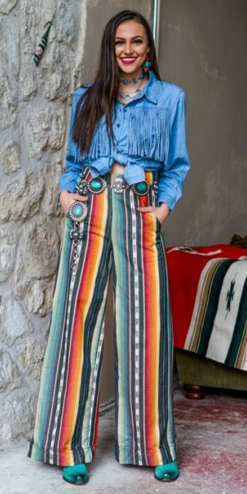 Sailor Serape Flare Pants - Also in Plus Size