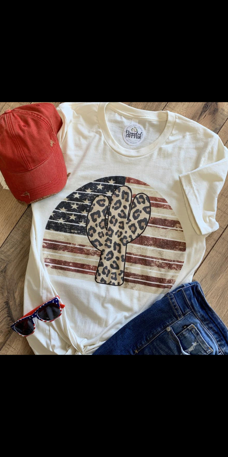Patriotic Cactus Top - Also in Plus Size