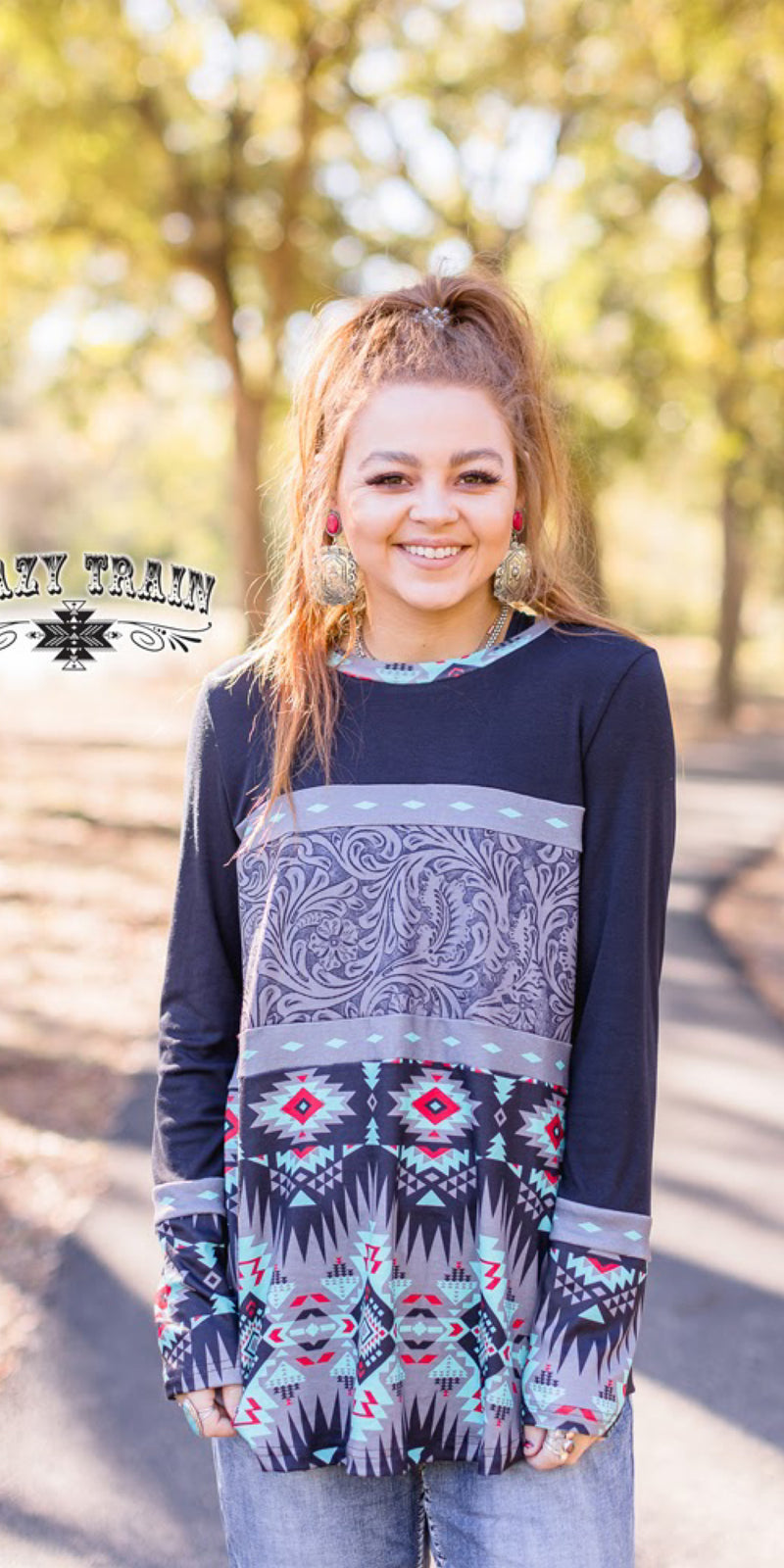 South Dakota Tooled Top - Also in Plus Size