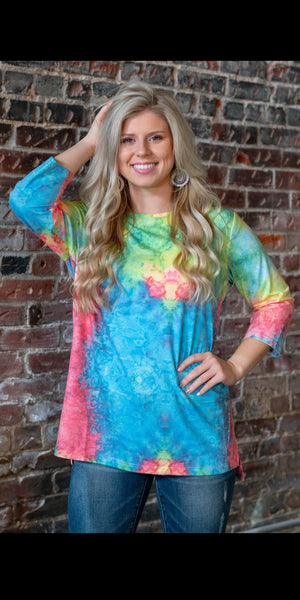 Malone Multi Color Tunic Top - Also in Plus Size