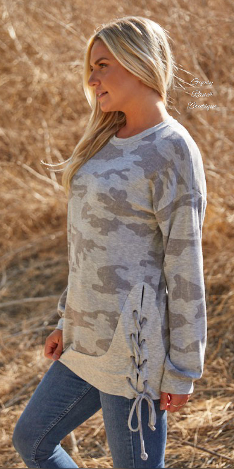 Santa Monica Camo Top - Also in Plus Size