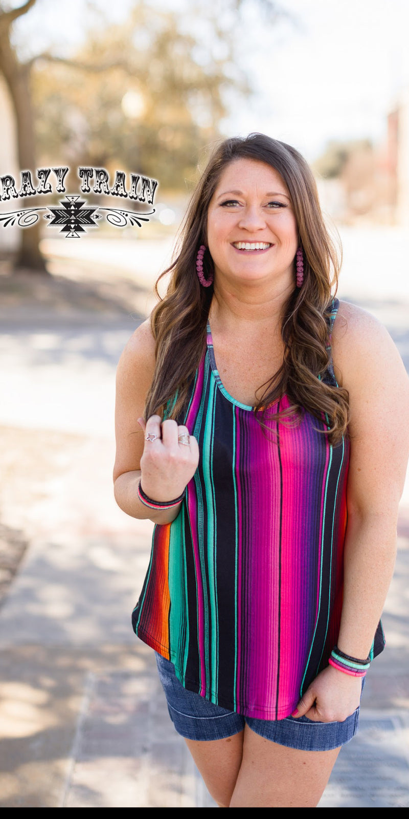Catalina Serape Tank Top - Also in Plus Size