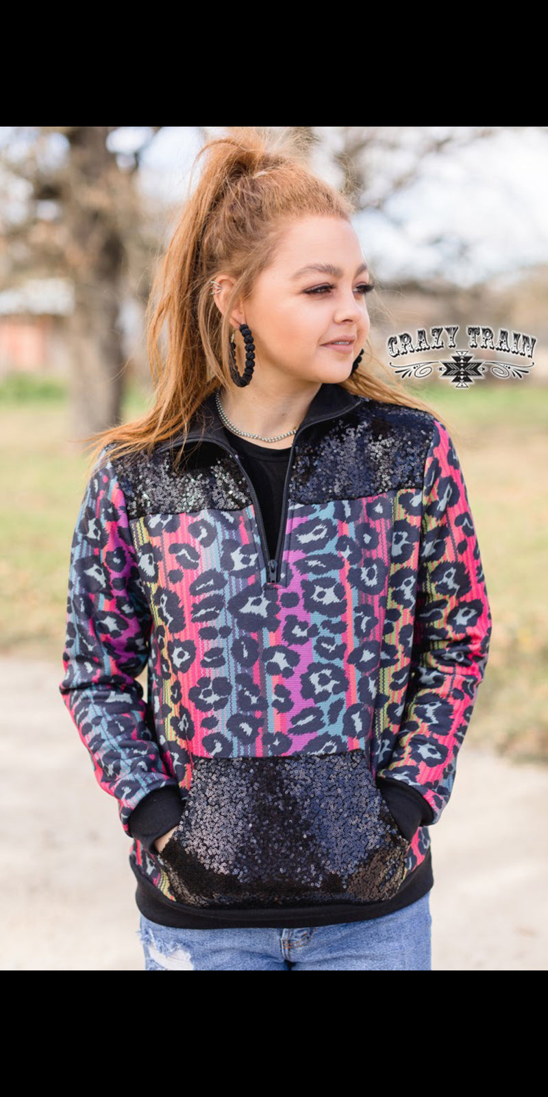 Gypsy Girl Leopard Serape Pullover Top - Also in Plus Size