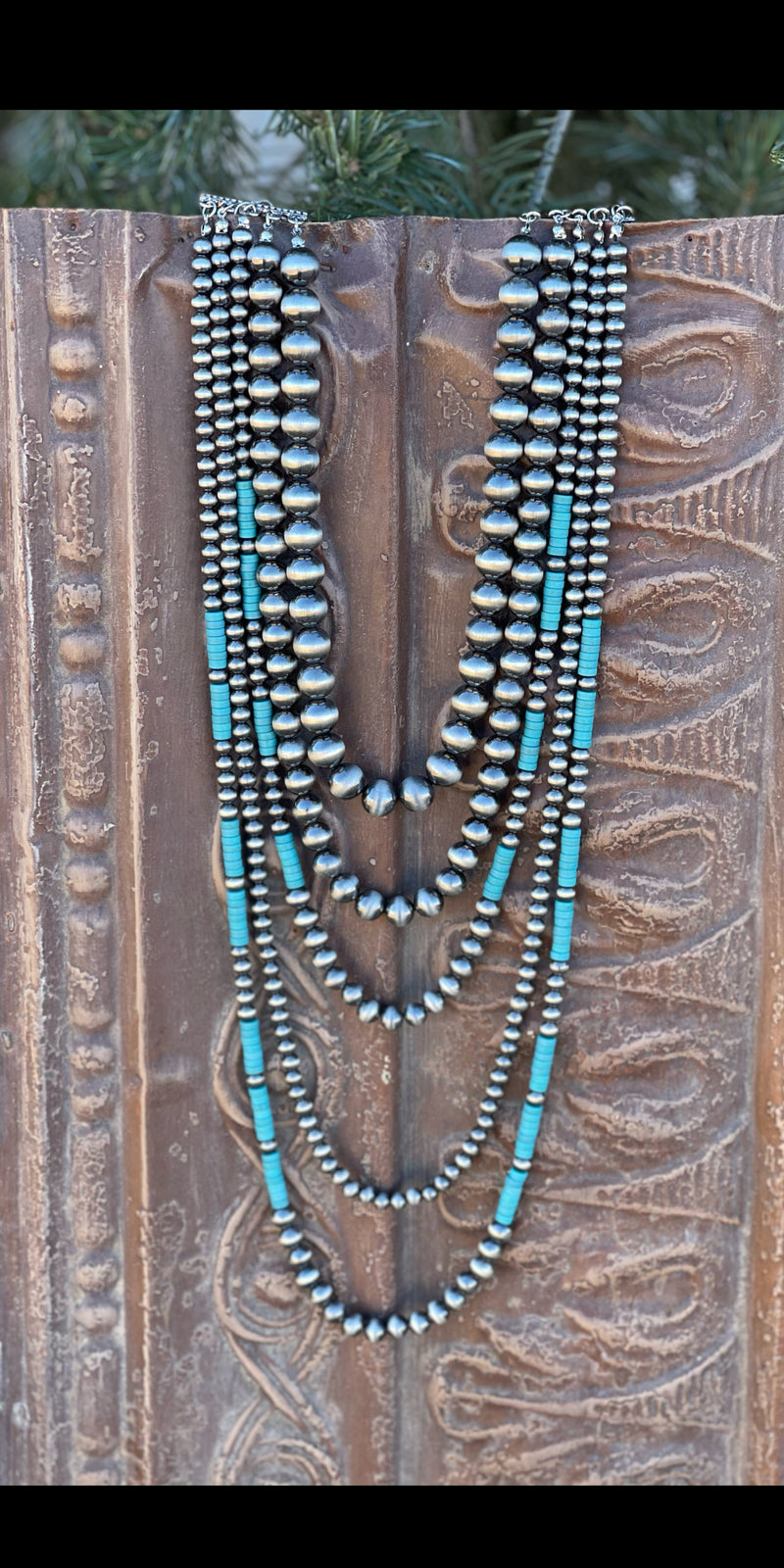 Adalee Silver Turquoise Multi Necklace