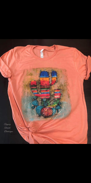 Paris Serape Cactus Pumpkin Top - Also in Plus Size