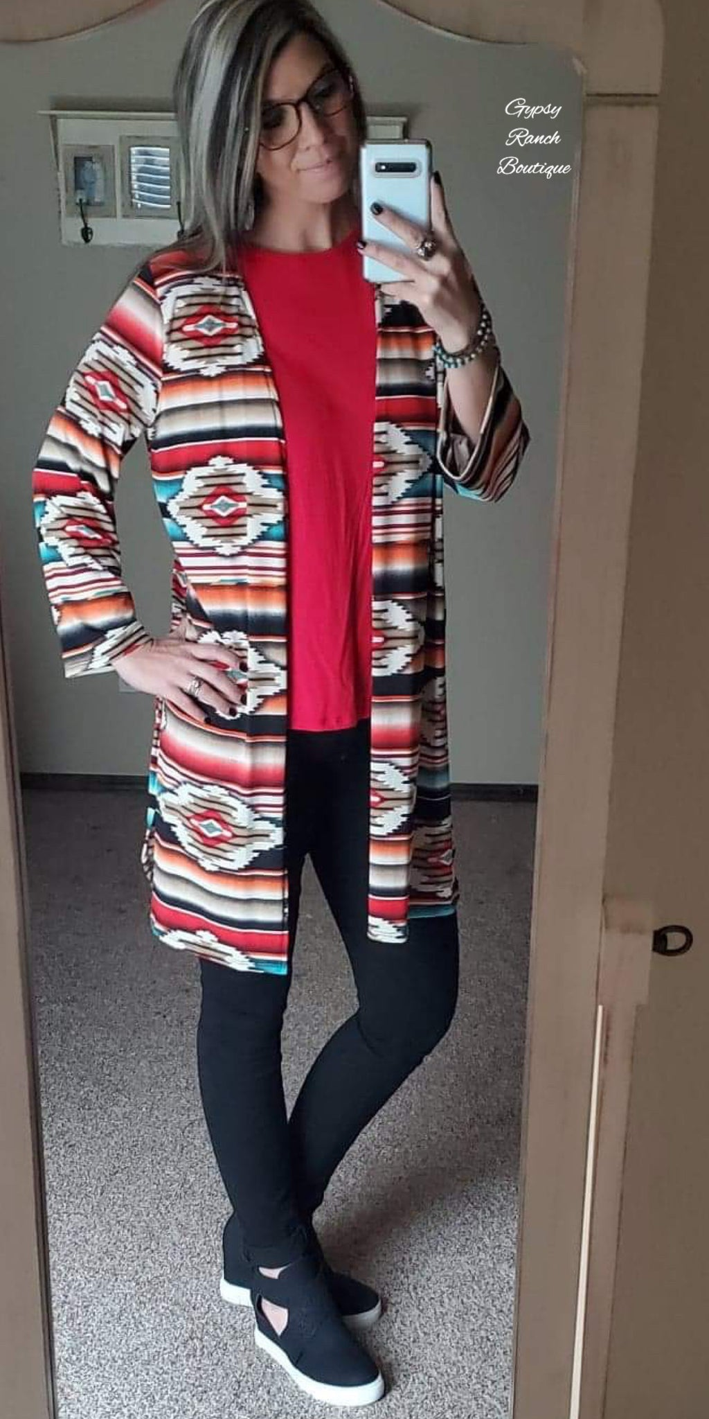 Roaring Springs Tribal Cardigan  - Also in Plus Size