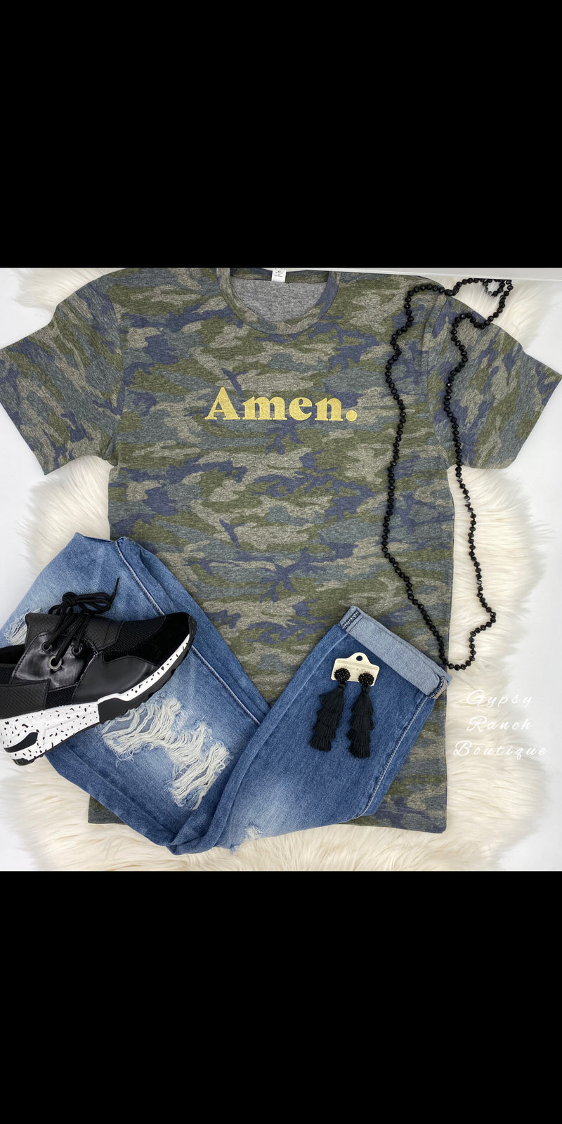 AMEN Camo Top - Also in Plus Size