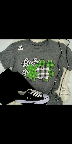 Lucky Shamrocks Top - Also in Plus Size