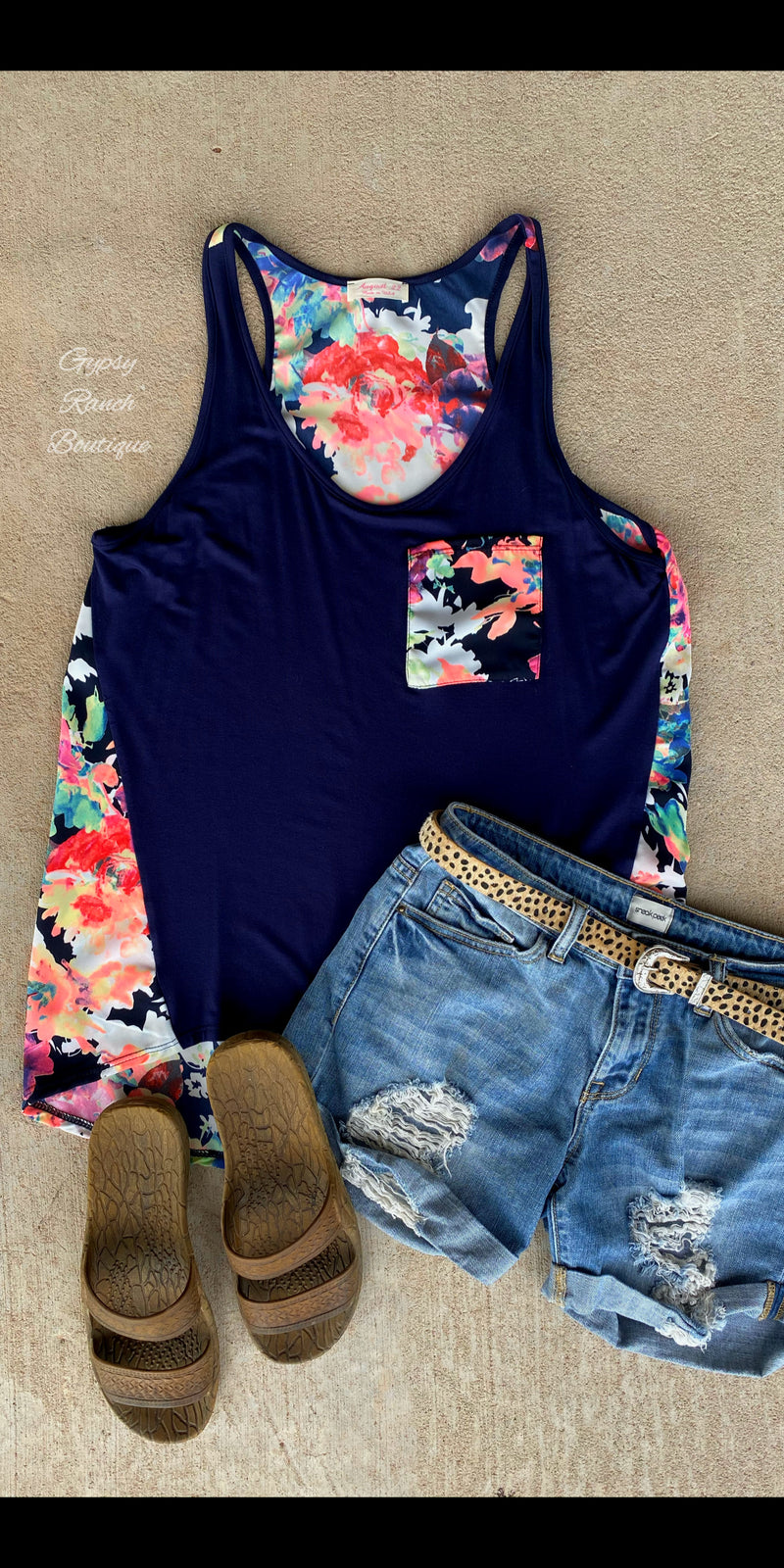 Hallie Floral Tank Top - Also in Plus Size