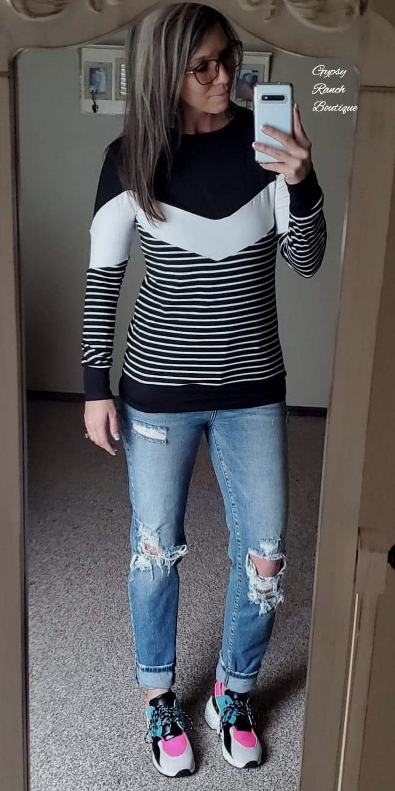 Chain Reaction Stripe Top