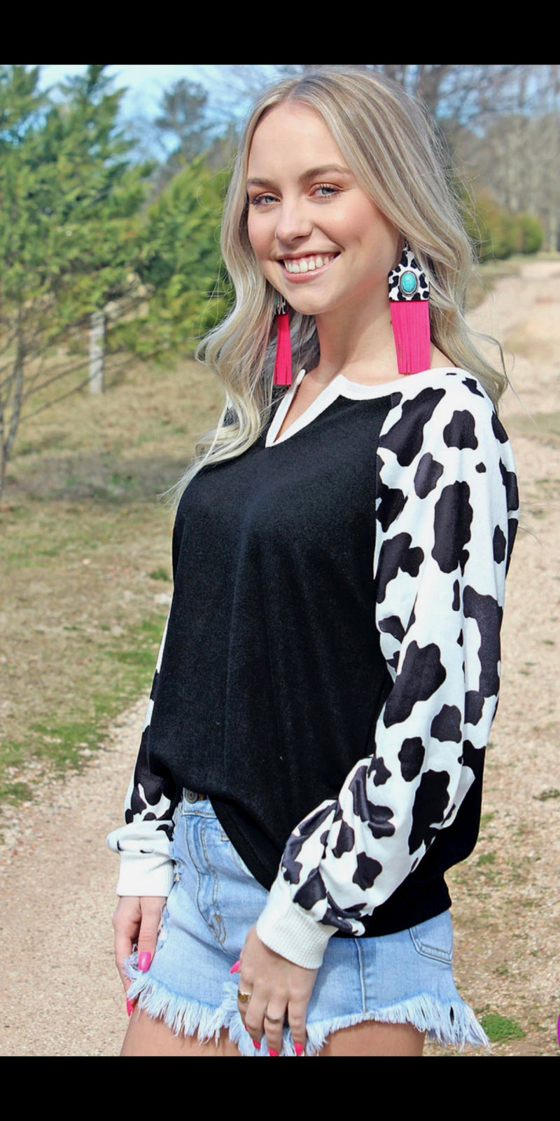 StockYards Cowprint Top - Also in Plus Size