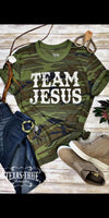Team Jesus in Camo Top - Also in Plus Size