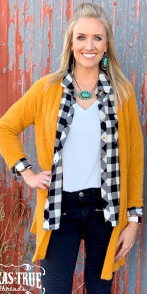 Hillsdale Mustard Soft Solid Cardigan - Also in Plus Size