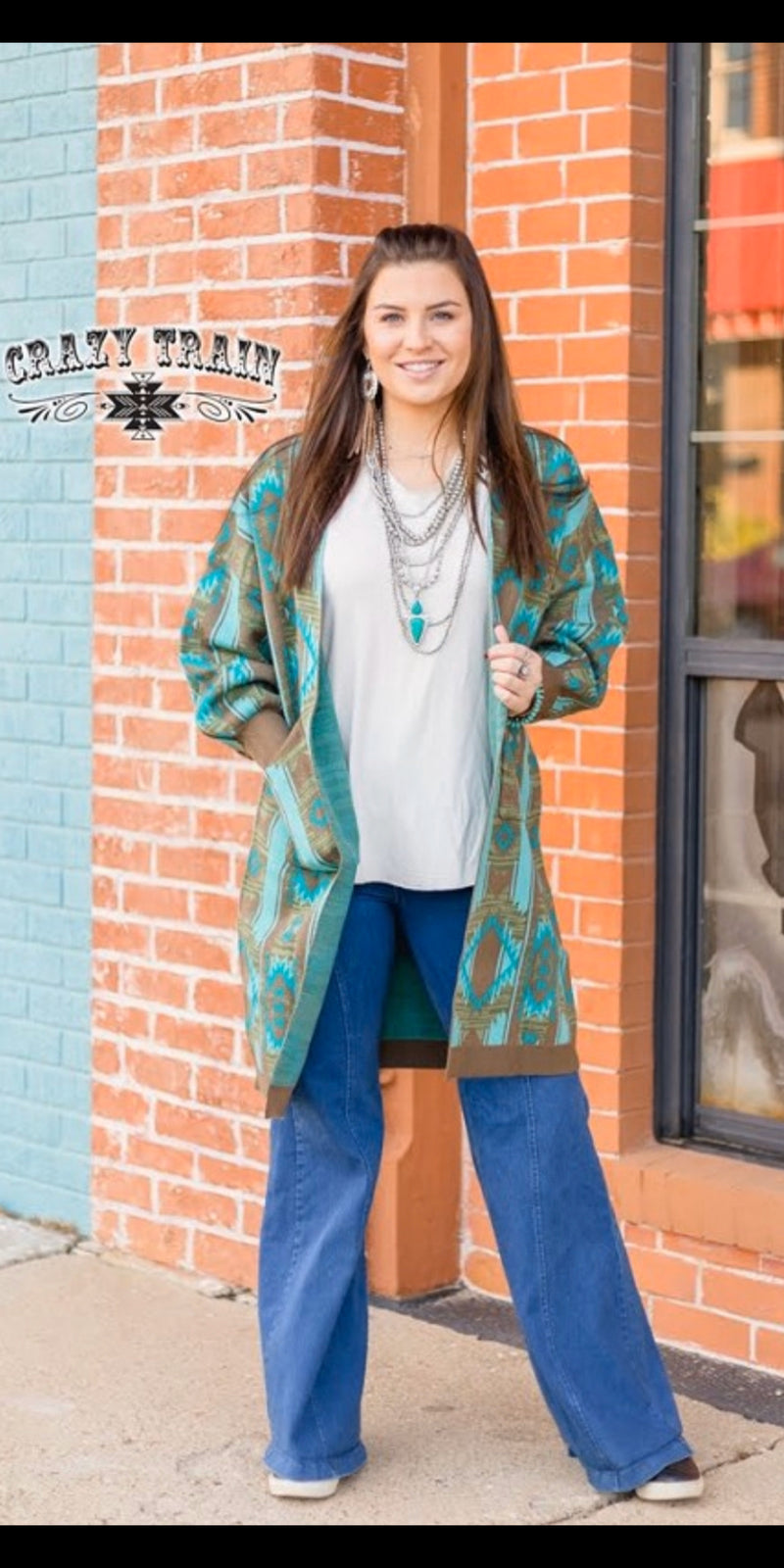Ranch Boss Aztec Cardigan - Also in Plus Size
