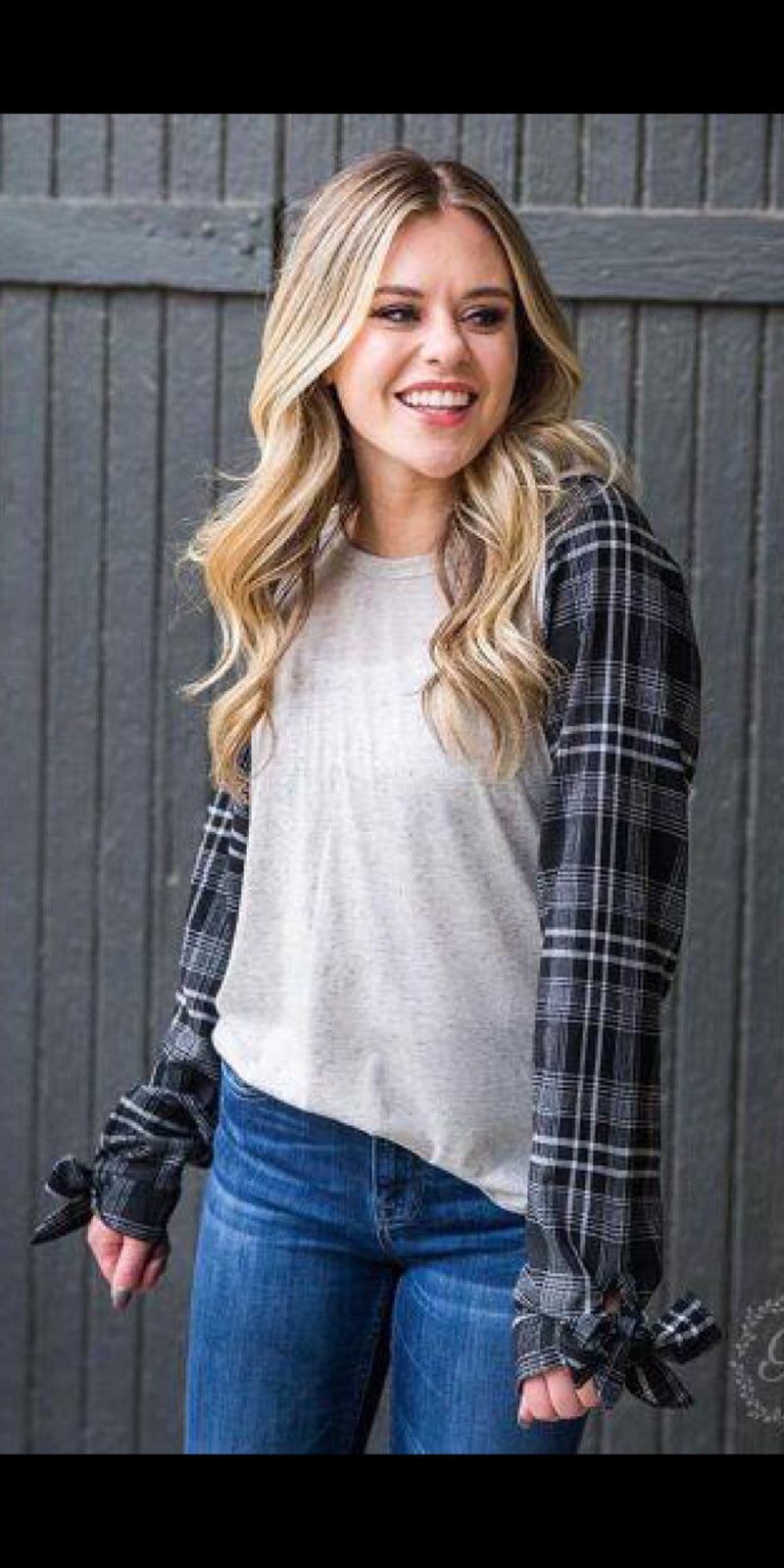 Poised In Plaid Top - Also in Plus Size