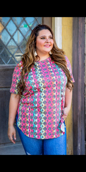 Meet Me In Santa Fe Top - Also i Plus Size