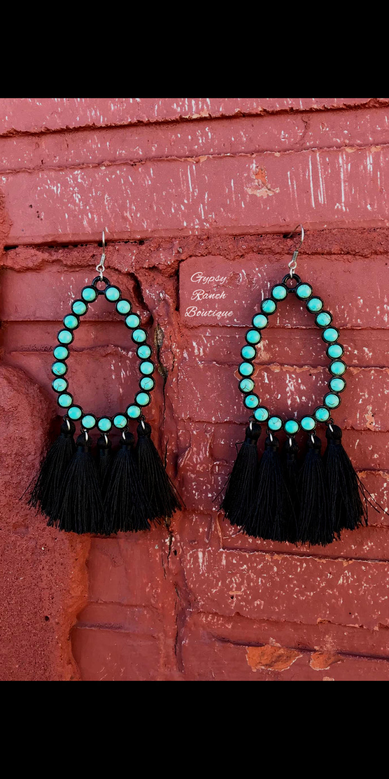 Rio Bravo Black & Turquoise Earrings