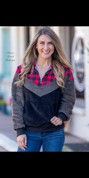 Moriarty Buffalo Plaid Pullover Top - Also in Plus Size