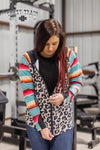 Savage Serape Zip Up Jacket - Also in Plus Size