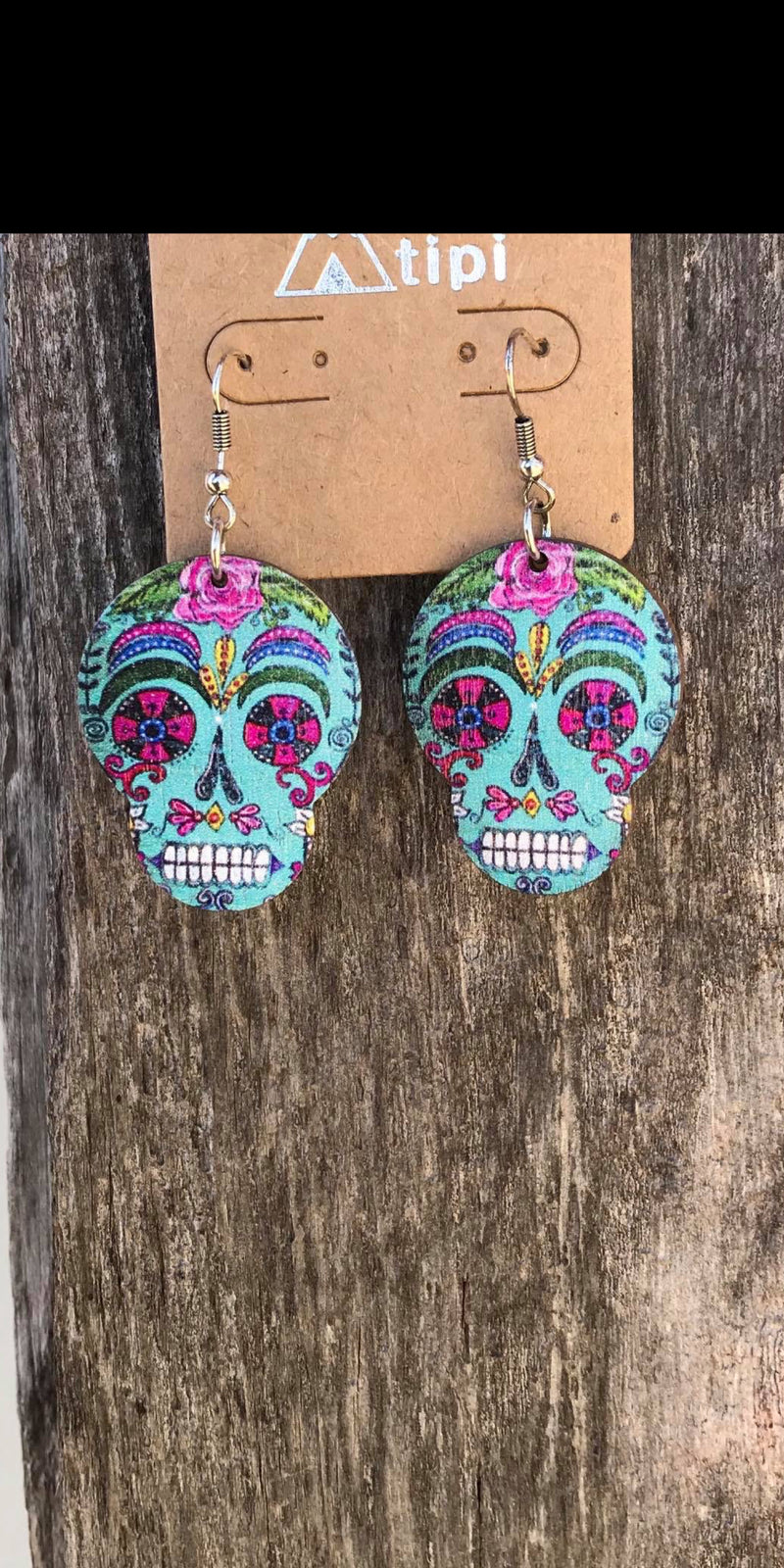 Wild  & Untamed Sugar Skull Earrings